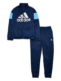 adidas-youth-badge-of-sport-tracksuit-navyblue