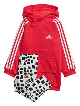 adidas-infant-3-stripe-dress-set-pinkgrey