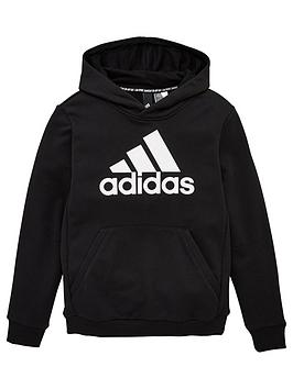 Adidas Youth Badge Of Sport Hoodie - Black/White