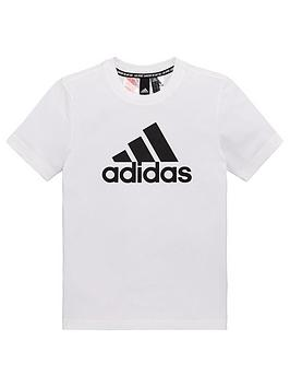 Adidas Adidas Youth Badge Of Sport T-Shirt - White Picture