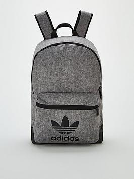 adidas Originals  Adidas Originals Melange Classic Backpack - Black