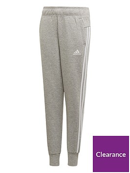 adidas-youth-3-stripe-pants-greywhite