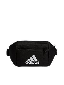 adidas-large-logo-childrens-waist-bag-black