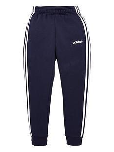 adidas-youth-3-stripe-pants-navywhite