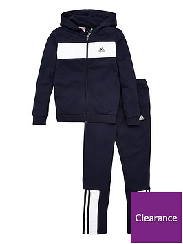 adidas-youth-cotton-tracksuit-navywhite