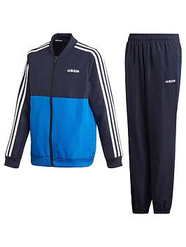 Adidas Adidas Woven Youth 3 Stripe Tracksuit - Blue/Navy Picture