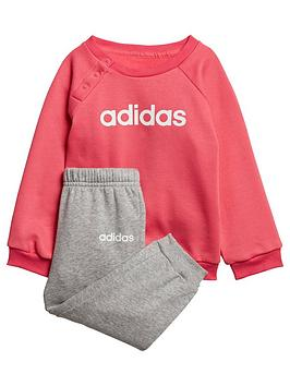 adidas-infant-linear-jog-suit-pinkgrey