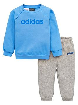 adidas-infant-linearnbspjogger-suit-bluegrey