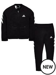 adidas-youth-xfg-tracksuit-blackwhite