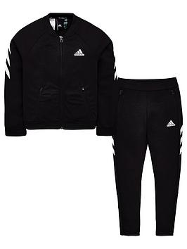 Adidas Adidas Youth Xfg Tracksuit - Black/White Picture
