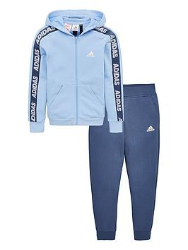 adidas-youth-hooded-cotton-tracksuit-bluenavy