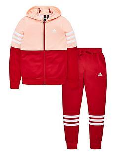 adidas-youth-hoodednbsptracksuit-pinkmaroon