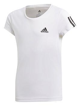 Adidas Adidas Youth Training Equipment T-Shirt - White/Black Picture