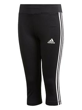 Adidas Adidas Youth Tr Eq 3-Stripes 3/4 Leggings- Black/White Picture