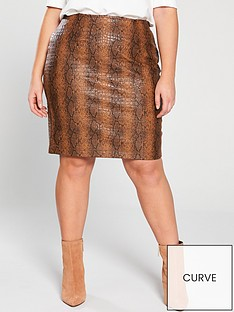 v-by-very-curve-pu-skirt-snake-print