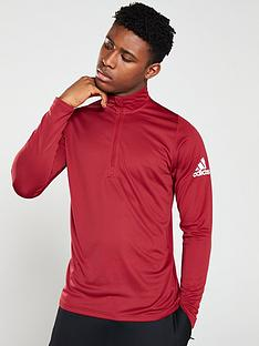 adidas-12-zip-training-top-red