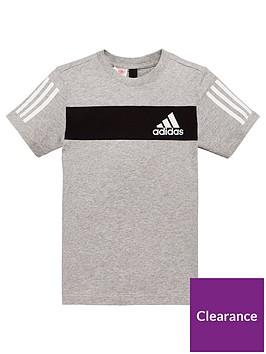 adidas-youth-sport-id-t-shirt-greyblack