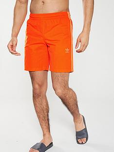 adidas-originals-3-stripe-swim-shorts-orange