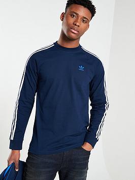 adidas-originals-3-stripe-long-sleeve-t-shirt-navy
