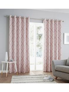catherine-lansfield-aztec-eyelet-curtains