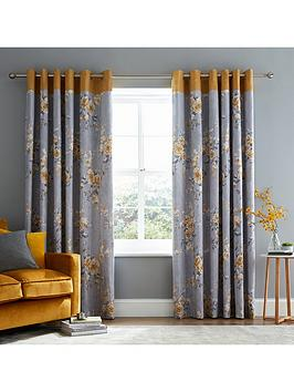 Catherine Lansfield Catherine Lansfield Canterbury Lined Eyelet Curtains -  ... Picture