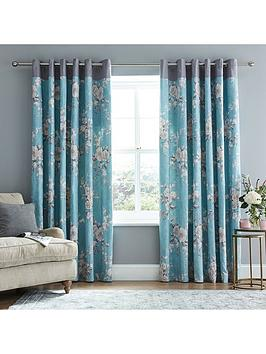 Catherine Lansfield Catherine Lansfield Canterbury Lined Eyelet Curtains  ... Picture