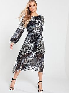 v-by-very-shirred-waist-midi-dress-scarf-print