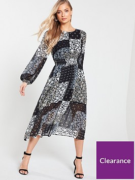 v-by-very-shirred-waist-midi-dress-scarf-print