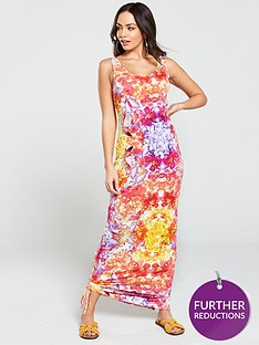 v-by-very-tall-side-gather-jersey-maxi-dress-multi