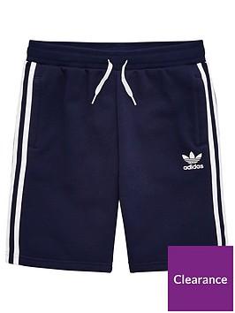 adidas-originals-youth-fleece-shorts-navywhite