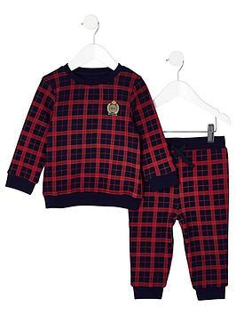 river-island-mini-mini-boys-red-check-sweatshirt-outfit