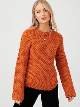 v-by-very-crew-neck-knit-jumper-ginger