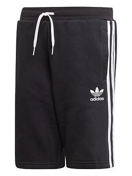 adidas-originals-youth-fleece-shorts-blackwhite