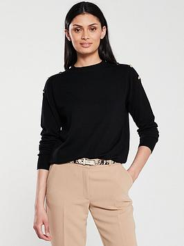 v-by-very-button-shoulder-crew-neck-jumper-black