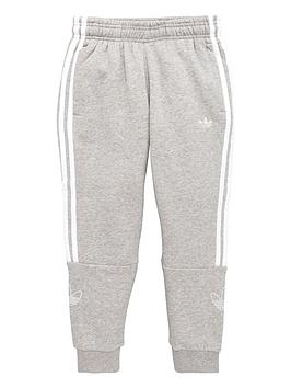 adidas-originals-youth-outline-pants-greywhite