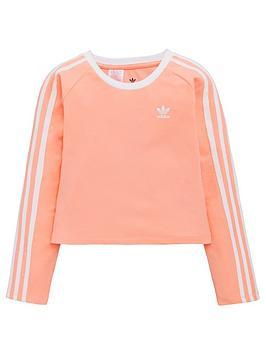 adidas-originals-youth-3-stripe-long-sleeve-crop-top-pinkwhite