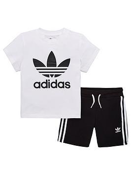 adidas-originals-little-kids-short-and-t-shirt-set-blackwhite