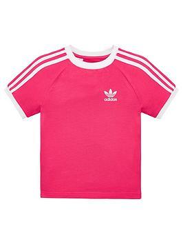 adidas-originals-little-kids-3-stripe-t-shirt-pinkwhite