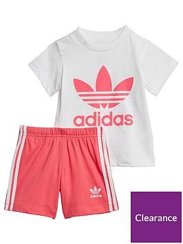 adidas-originals-infantnbspt-shirt-amp-shorts-set-whitepink