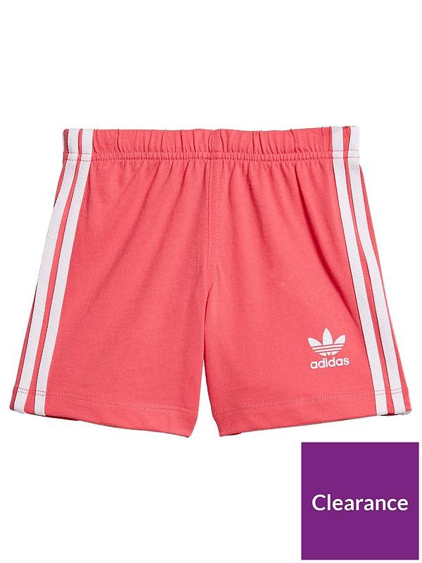 adidas Infant Baby Boy/'s T-Shirt /& Shorts Set Elasticated Summer Holiday