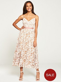 u-collection-forever-unique-floral-lace-a-line-midi-dress-nudeivory