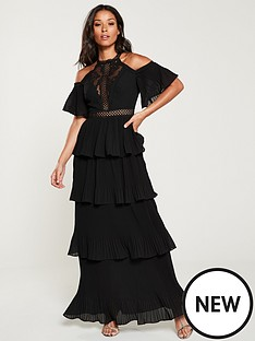 u-collection-forever-unique-cold-shoulder-tiered-maxi-dressnbsp--black