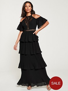 u-collection-forever-unique-cold-shoulder-tiered-maxi-dressnbsp--black