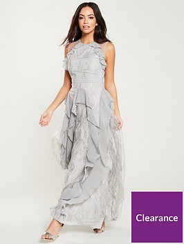 u-collection-forever-unique-frill-detail-maxi-dress-grey