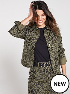 v-by-very-animal-print-co-ord-jacket-khaki-print
