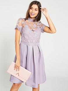 little-mistress-embroidered-high-neck-skater-dress-ndash-lavender