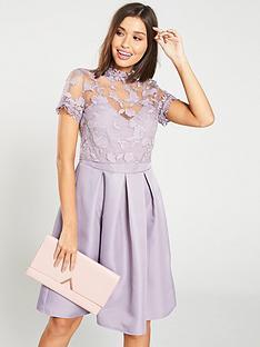 little-mistress-embroidered-high-neck-skater-dress-ndash-lavender