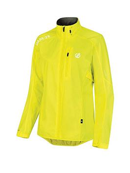 Dare 2b  Dare 2B Womens Mediant Cycle Jacket - Fluro Yellow