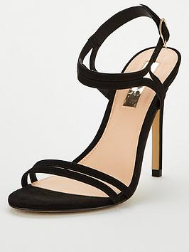 Office Office Wide Fit Hotcake Heeled Sandals - Black Picture