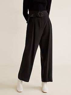 mango-buckle-detail-wide-leg-trousers-black